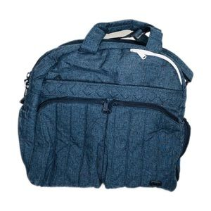 Lug North/South Boxer Quilted Denim Overnight Bag